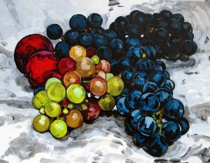 grape study in oils