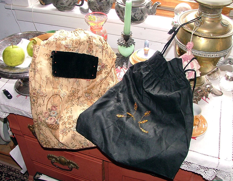 antique sewing bags