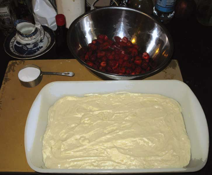 Strawberry Cake in progress