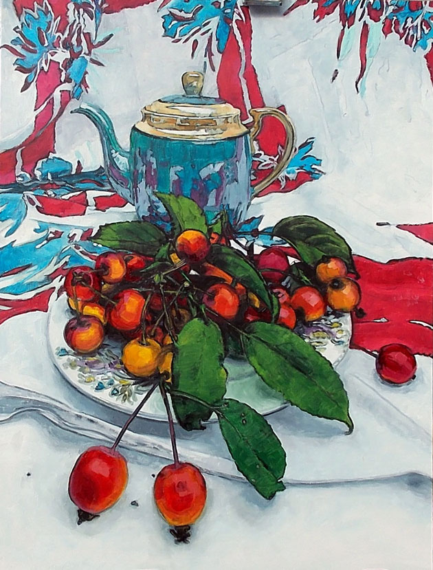 Crab Apples and Teapot