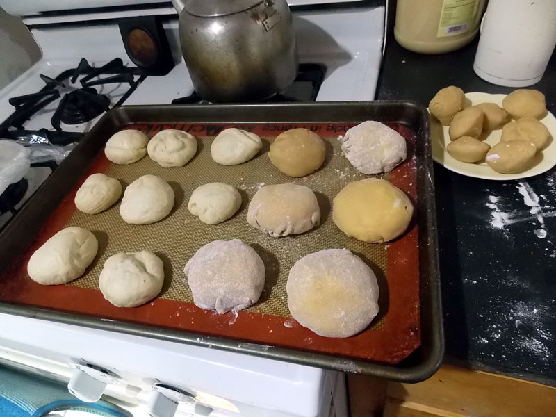 covered bread balls