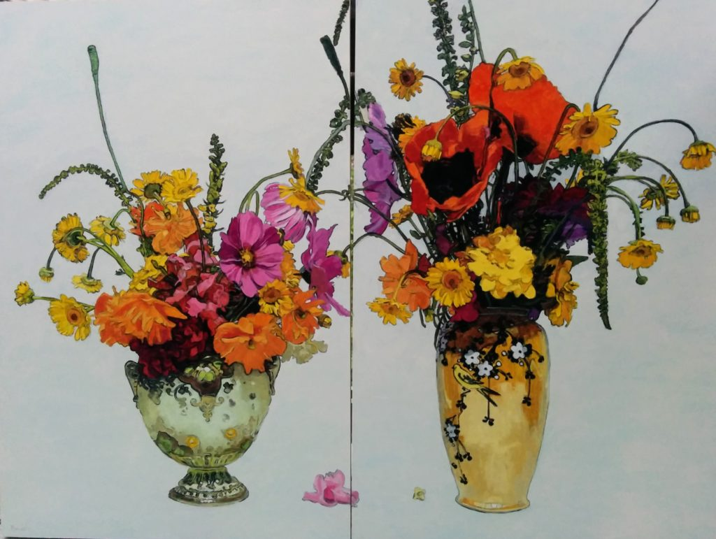 Diptych stilllife painting
